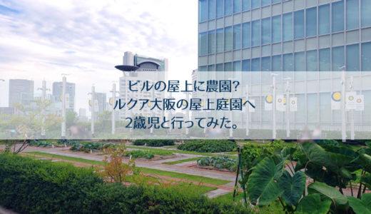 ルクア大阪|屋上庭園の行き方と感想|緑に囲まれながら子供と一緒にのんびり過ごせる!